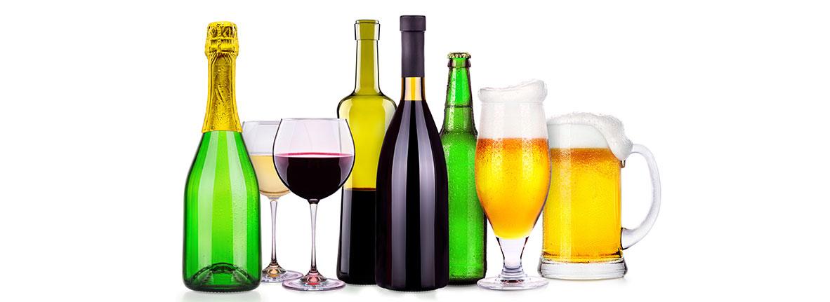 verschiedene Getränke